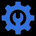 creation logo degrade bleu simple moderne cle reparation 132816 206